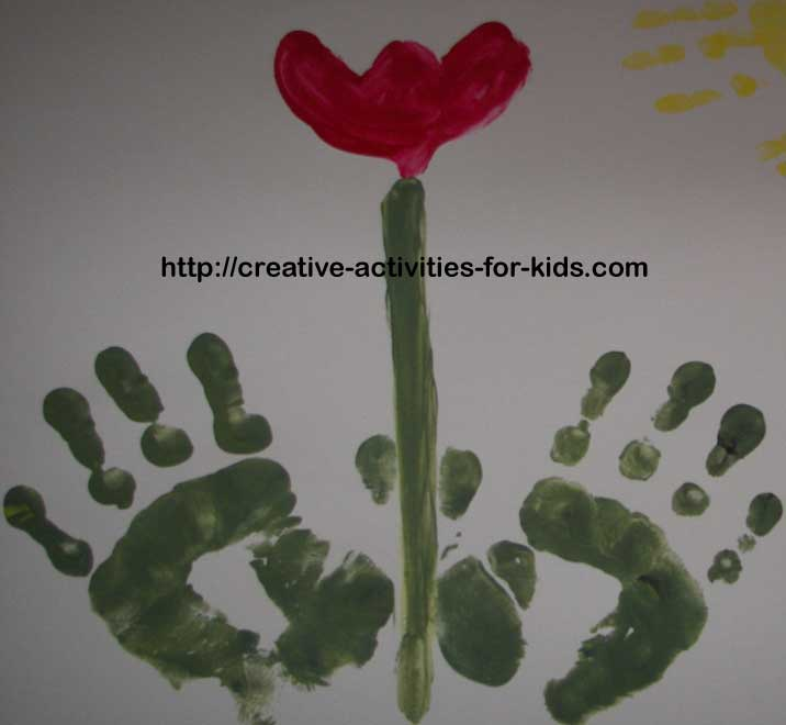 Poems for baby or child footprints and handprints baby